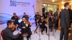 The guests enjoyed the classical music of the orchestra after the official part of the evening