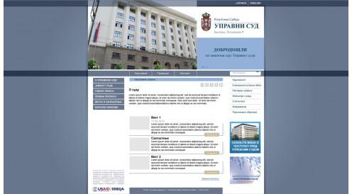 U saradnji sa USAID-om, POSH&media je privela kraju dizajn i programiranje sajta za Upravni Sud Srbije